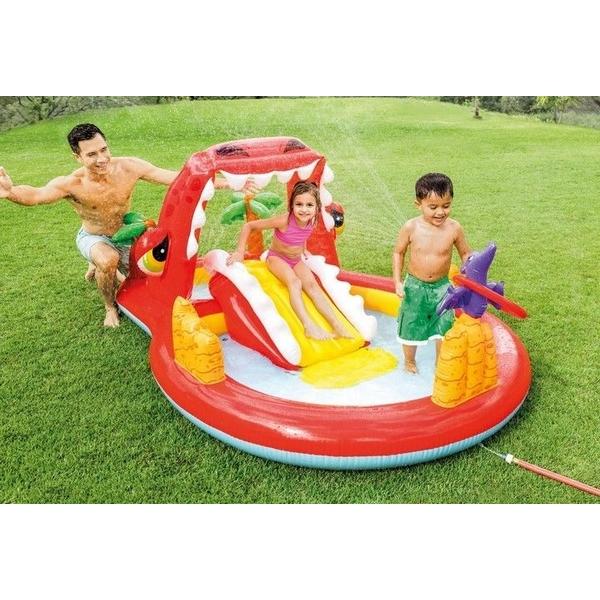 Piscina gonflabila pentru copii cu tobogan Red Dragon Intex imagine