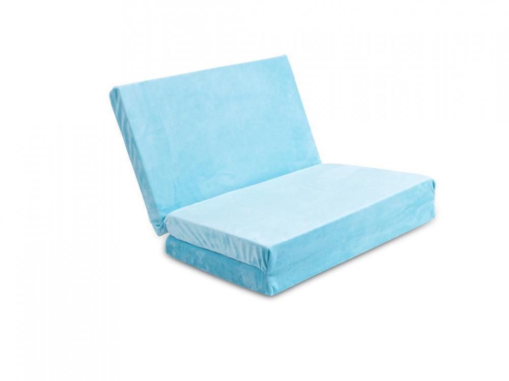 Saltea pliabila pentru patut Baby Matex Plush Blue 31