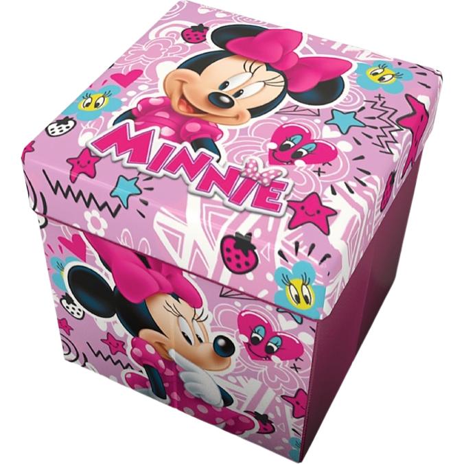 Taburet pliabil cu spatiu de depozitare Minnie Stars Star imagine
