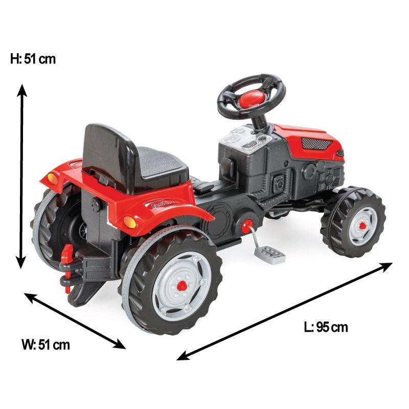 Tractor cu pedale pentru copii Active Red - 2
