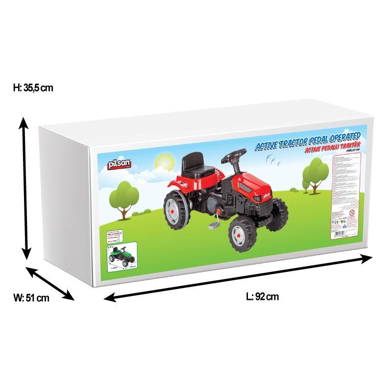Tractor cu pedale pentru copii Active Red - 3