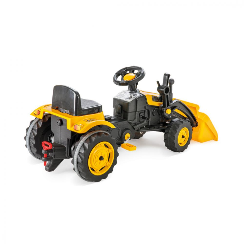 Tractor cu pedale si cupa Pilsan Active Galben - 1