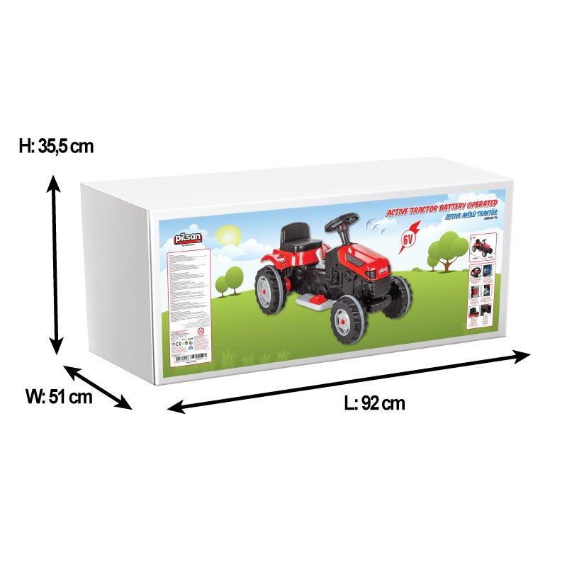 Tractor electric pentru copii Active Red - 8