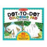 Bloc de colorat punct cu punct Animale salbatice Melissa & Doug