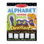 Bloc de desenat Alfabetul dinozaurilor Melissa & Doug