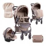Carucior set 2 in 1 Daisy cos auto inclus Beige
