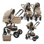 Carucior transformabil 3 in 1 Alba Dark Beige