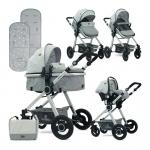 Carucior transformabil 3 in 1 Alexa Grey Triangles