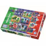 Puzzle Trefl 10 in 1 Curajosii Eroi in pijamale