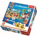 Puzzle Trefl 2 in 1 Memo Patrula catelusilor