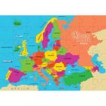 Puzzle geografic Harta Europei (69 piese)