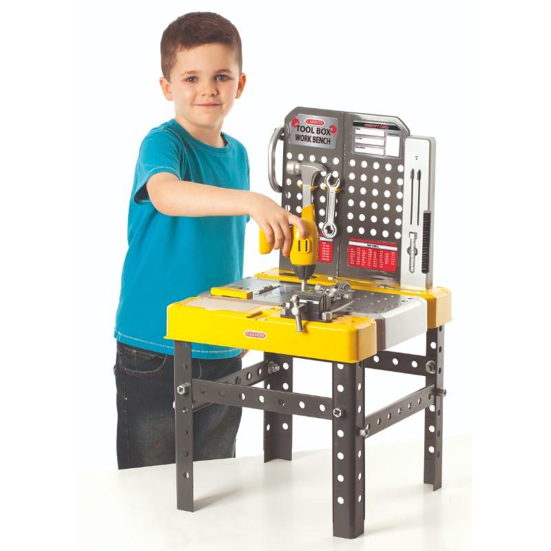 Banc de lucru pentru copii cu unelte si accesorii