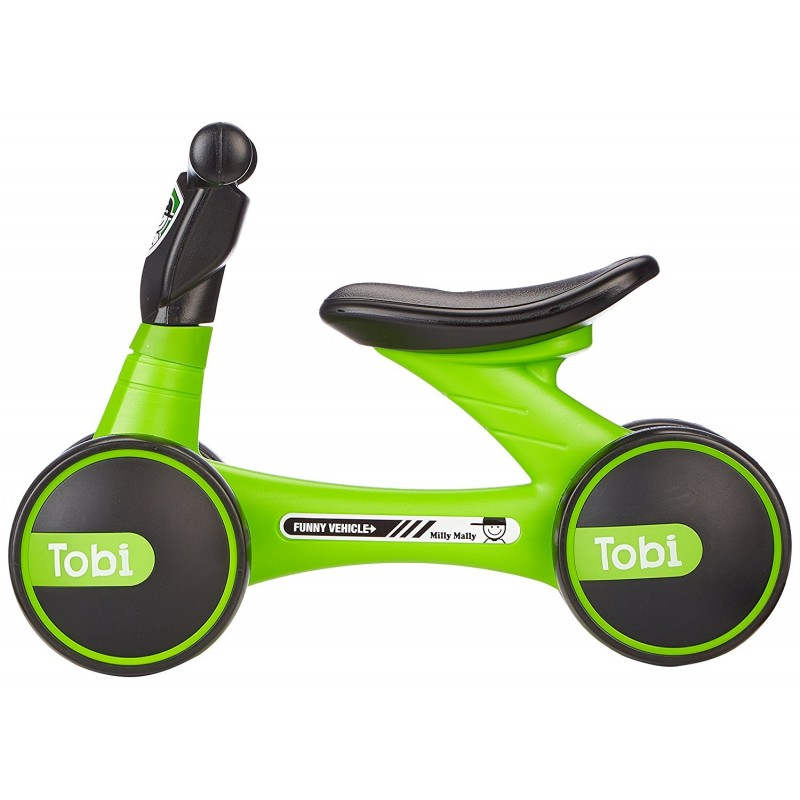 Bicicleta fara pedale Ride-On Tobi Green