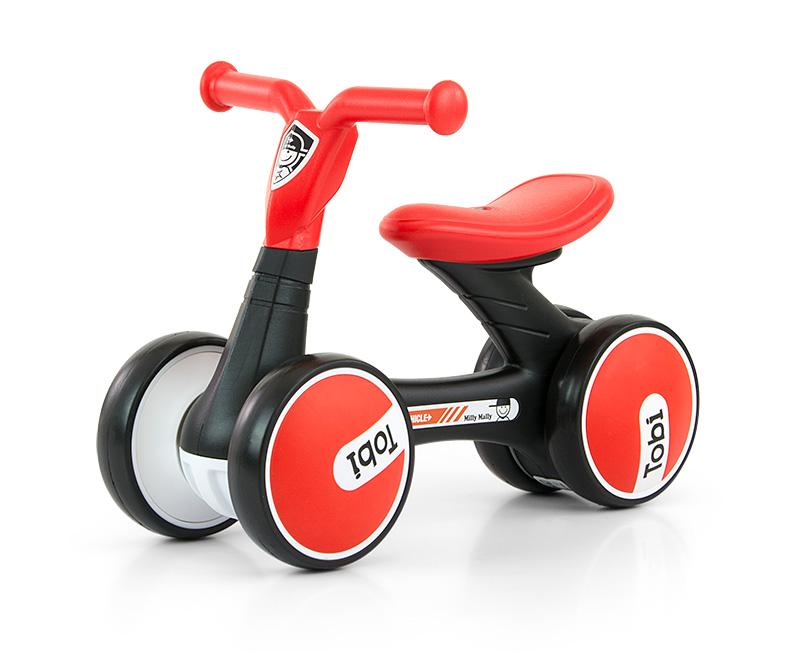 Bicicleta fara pedale Ride-On Tobi Red