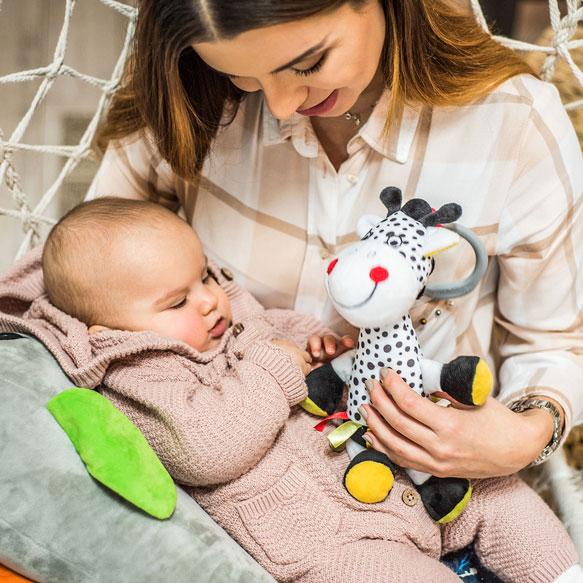 Jucarie de plus cu vibratii Baby Ono Girafa Adelle - 3