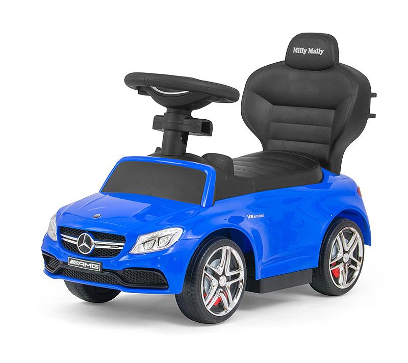 Masinuta copii 3 in 1 Mercedes AMG C63 Blue imagine