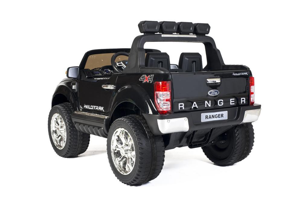 Masinuta electrica Ford Ranger Wildtruck 12V cu scaun de piele Black imagine