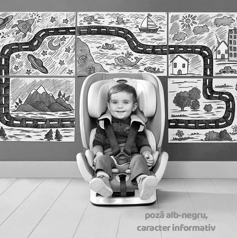 Scaun auto cu Isofix Chicco YOUniverse Jet Black 12luni+