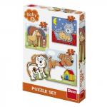 Baby puzzle Animalute jucause 3-5 piese
