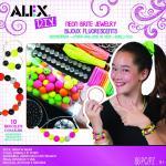 Set creativ Bijuterii fluorescente, bratari, inele si coliere AlexToys