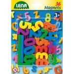 Set cifre si semne matematice magnetice Lena multicolore 36 piese