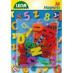 Set litere mari magnetice Lena multicolore 36 piese