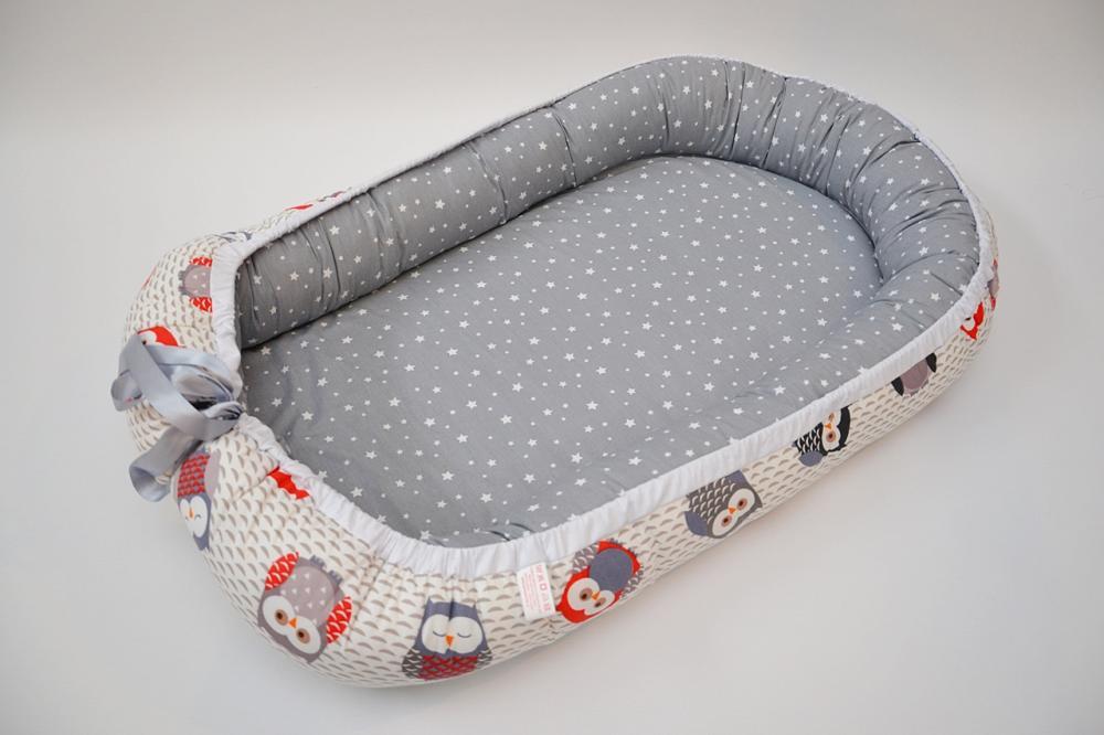 Baby Nest 0-6 luni Bufnite gri