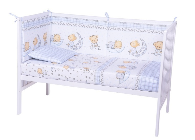 Lenjerie patut cu 3 piese Sleepy Little Bear Bleu 015