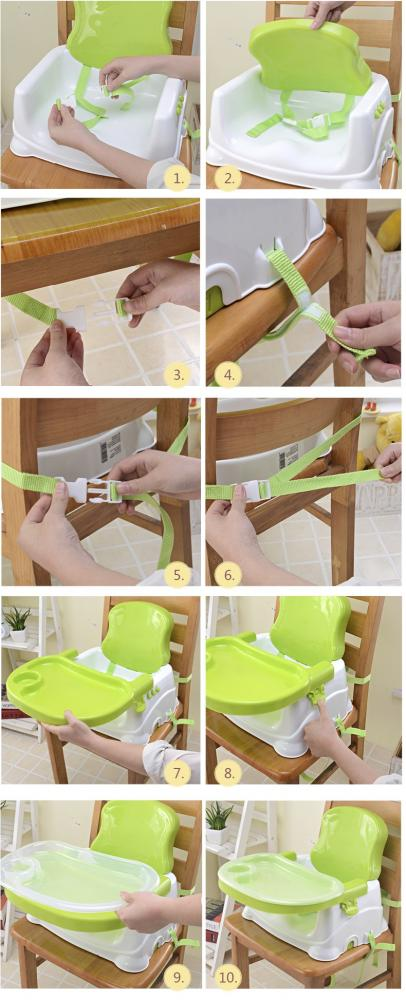 Scaun de masa Smart Baby Booster Green