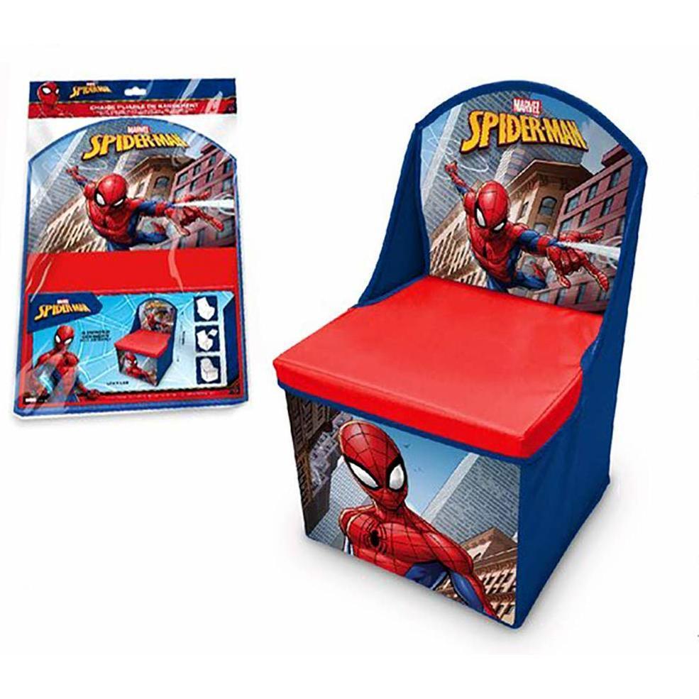 Scaun pliabil cu spatar si spatiu depozitare Spiderman SunCity LEY3000LQ