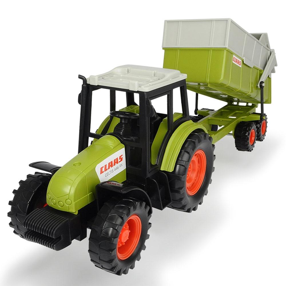 Tractor Class Celtis 446 RX cu remorca Dickie Toys