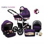 Carucior Largo 3 in 1 Purple Flowers