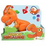 Dinozaur Junior T-Rex cu lumini si sunete portocaliu