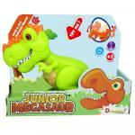 Dinozaur Junior T-Rex cu lumini si sunete verde