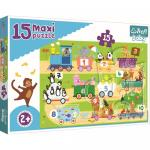 Puzzle Trefl 15 maxi Trenul cu numere