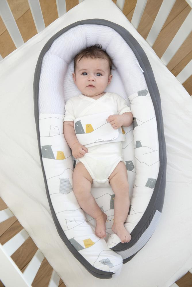 Suport cuibusor pentru bebelusi Doomoo Anthracite