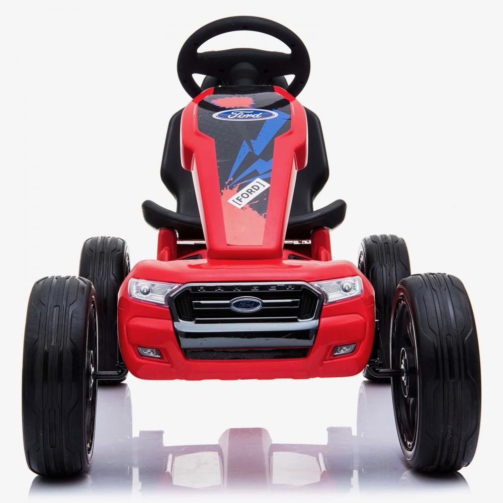 Kart cu pedale si roti din cauciuc Ford Ranger Red