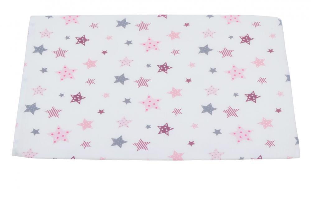 Perna plan inclinat Pink and Grey Stars White