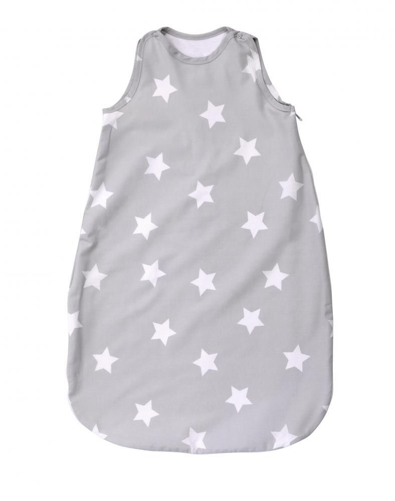 Sac de dormit de iarna 80 cm bumbac ranforce Stars Grey din categoria Camera copilului de la LORELLI