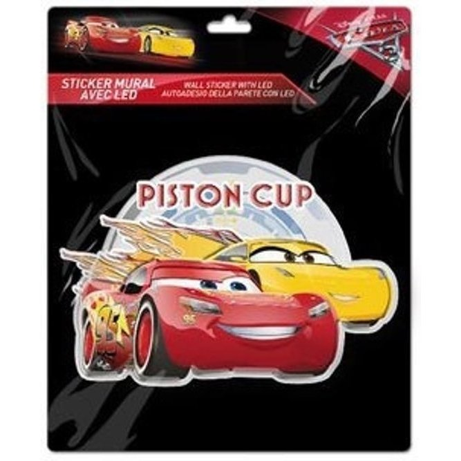 Sticker de perete cu led Cars Piston Cup SunCity imagine