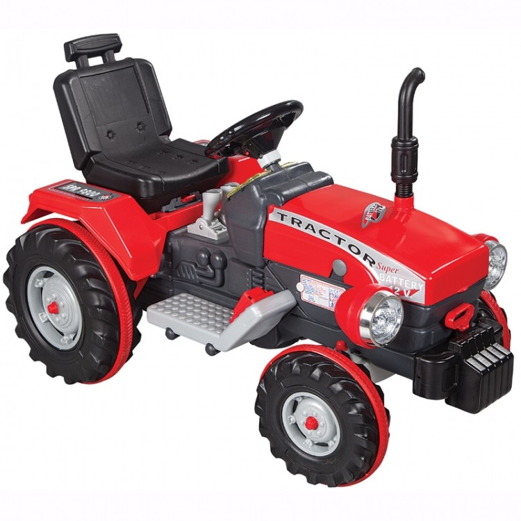 Tractor electric 12V Super Tractor Rosu
