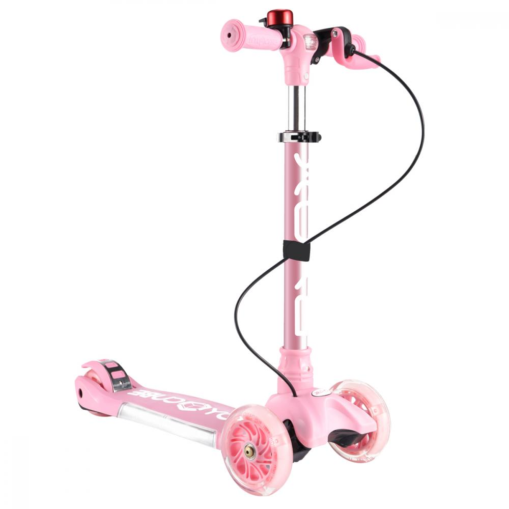 Trotineta cu sunete si lumini Cube Toy Pink