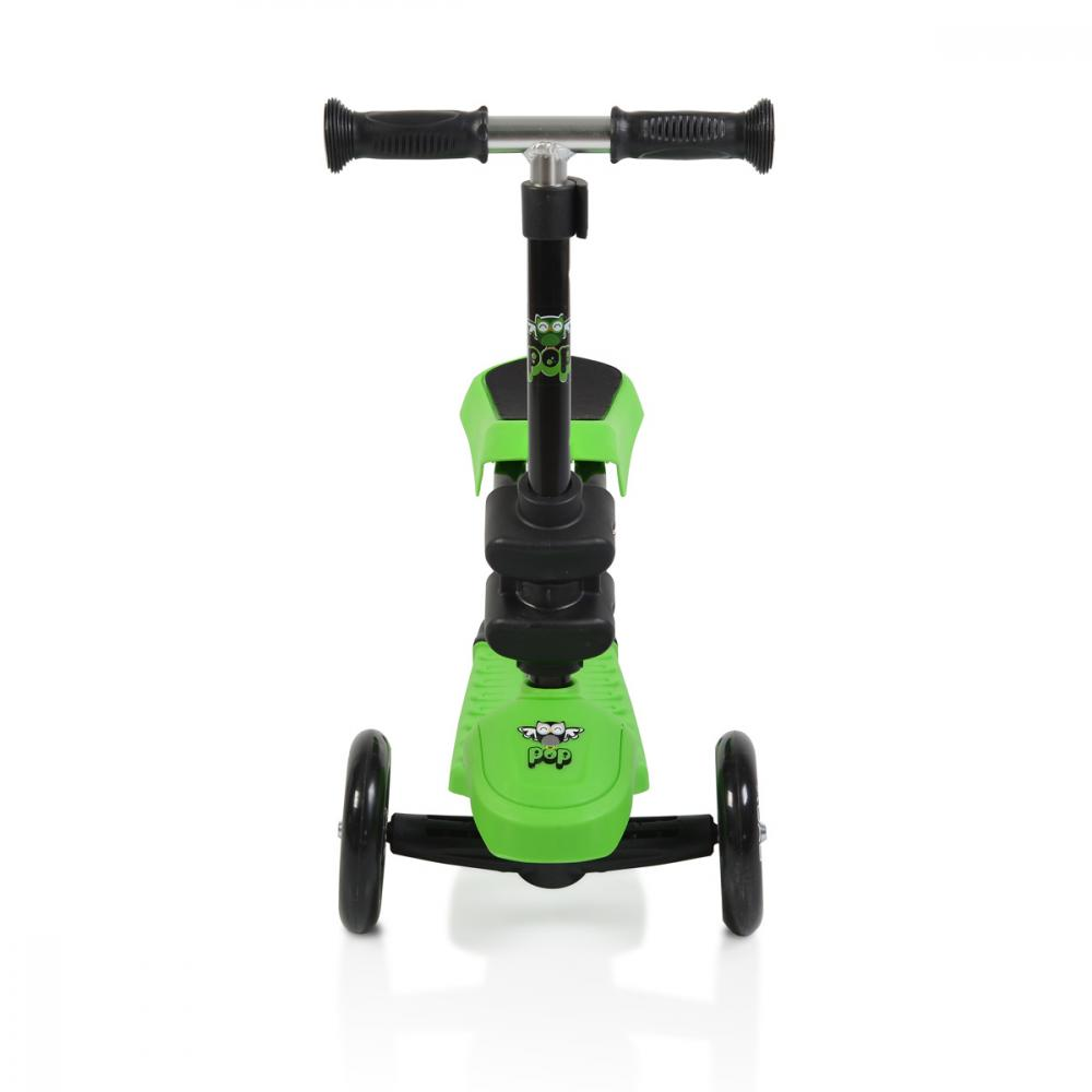 Trotineta multifunctionala 2 in 1 cu lumini Pop Green