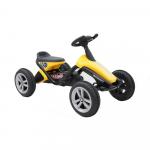 Kart cu pedale si roti din plastic Go kart Dakar Yellow