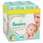 Scutece Pampers Premium Care XXL Box Marimea 2, 4-8 kg 240 buc