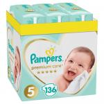 Scutece Pampers Premium Care XXL Box nr. 5 11- 16 kg 136 buc