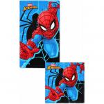 Set 2 prosoape fata si maini Spiderman SunCity