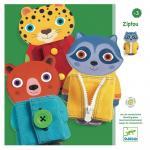 Sisteme de inchidere haine colorate Djeco
