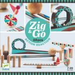 Set de constructie trasee Zig&Go Djeco 28 piese