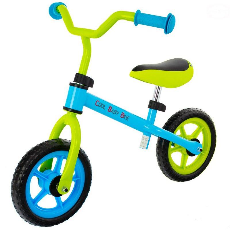 Bicicleta fara pedale EURObaby cool baby bike albastru cu verde